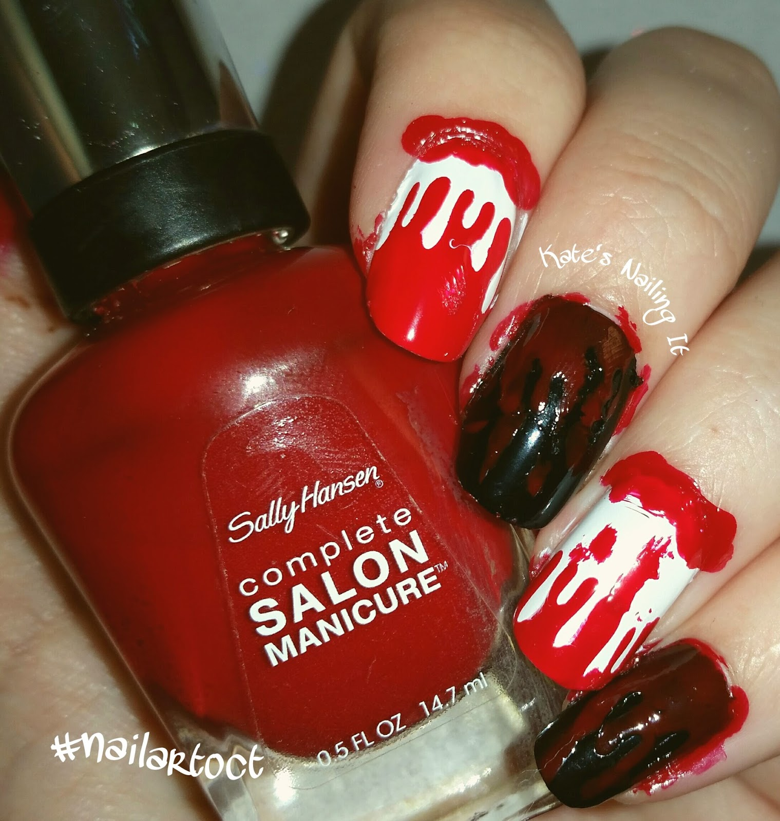 Kate\'s Nailing It: October nail art challenge Day 25: Blood