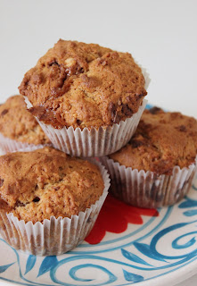 Muffins met Snickers en pindakaas