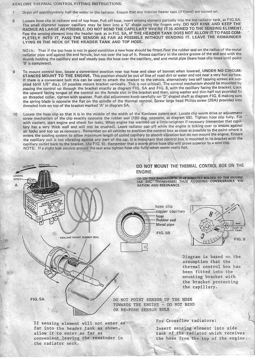 Wiring Diagram Kenlowe Fan : How to fitting a kenlowe unifan electric fan classic