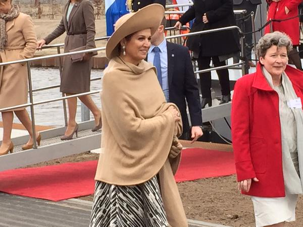 Queen Maxima of The Netherlands opens the new Maxima Kanaal (channel) in Den Bosch, The Netherlands, 5 March 2015. The Maxima Channel is a new waterway nine kilometers east of s-Hertogenbosch and runs from the Maas to the South Willemsvaart in Den Dungen