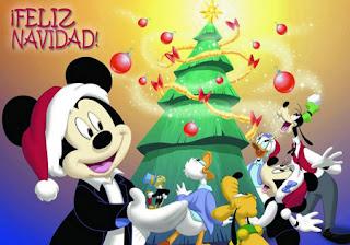 Una postal con los personajes de Disney