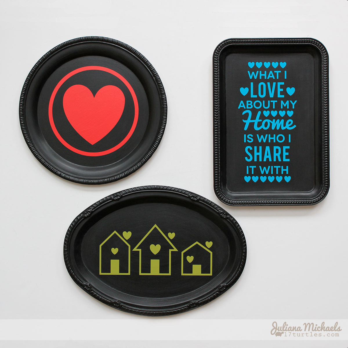 Dollar Tree Trays Wall Decor by Juliana Michaels featuring SRM Stickers Adhesive Vinyl