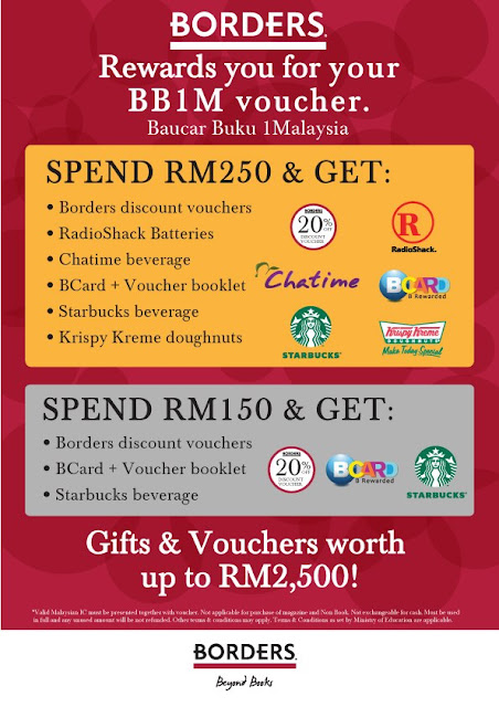 BB1M Baucar Buku 1Malaysia Book Voucher Promotion Borders Bookstore