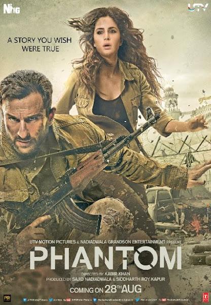 Poster Of Phantom 2015 1CD DVDRip Hindi