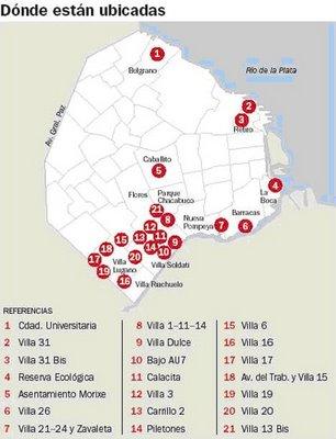 Geograf a argentina barrios no oficiales de capital federal for Villas en argentina