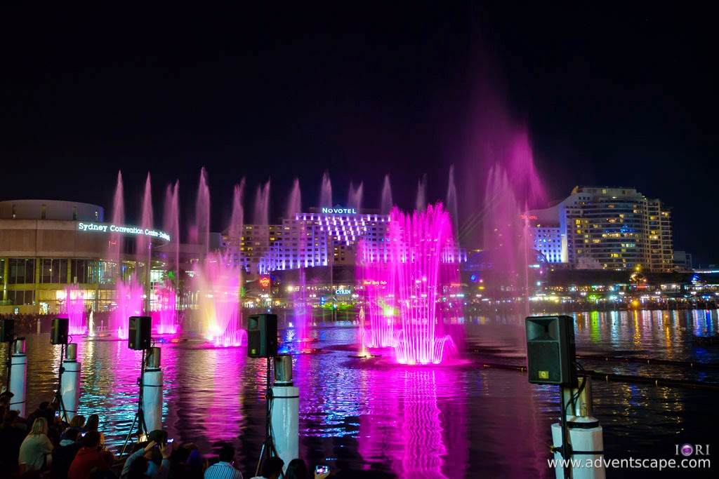 Philip Avellana, Australian Landscape Photographer, Vivid Sydney, Event, CBD, NSW, New South Wales, Australia, lighting, long exposure, 2013, light pattern, Darling Harbour, light show, water show
