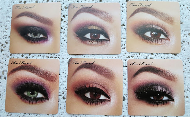 a picture of Too Faced Star Dust Vegas Nay palette (look cards)