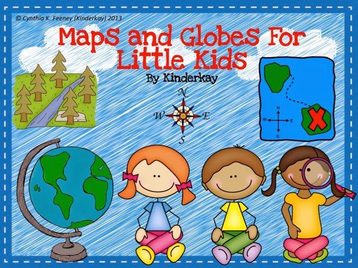 http://www.teacherspayteachers.com/Product/Maps-and-Globes-for-Little-Kids-759221