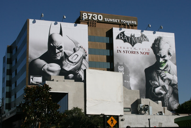 Batman Arkham City billboards