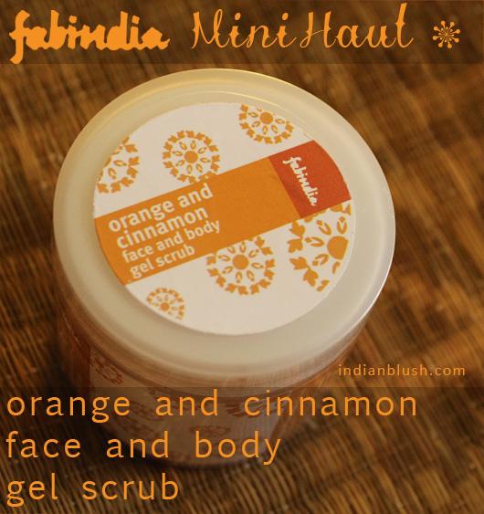 Fabindia Orange and Cinnamon Gel Face and Body Scrub