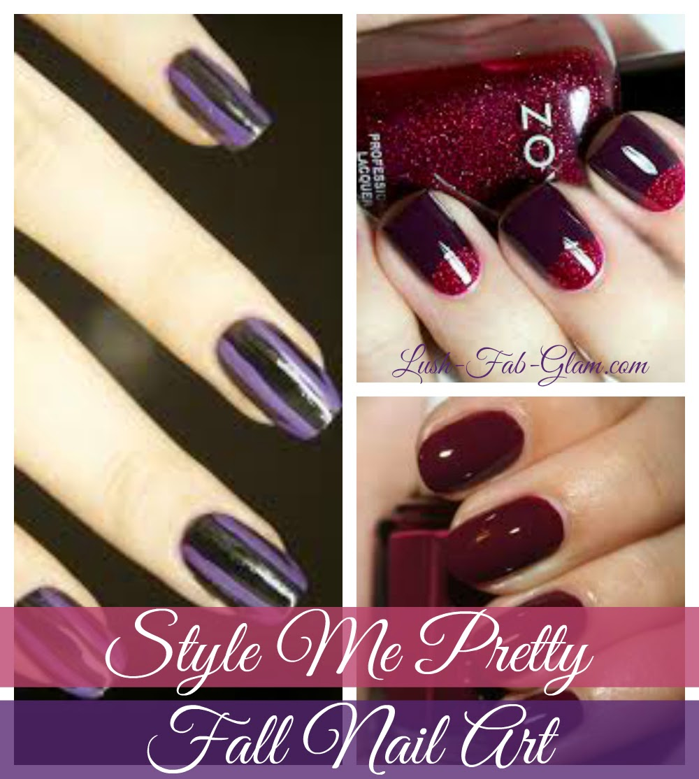 Lush Fab Glam Blogazine Style Me Pretty Fall Nail Art Designs