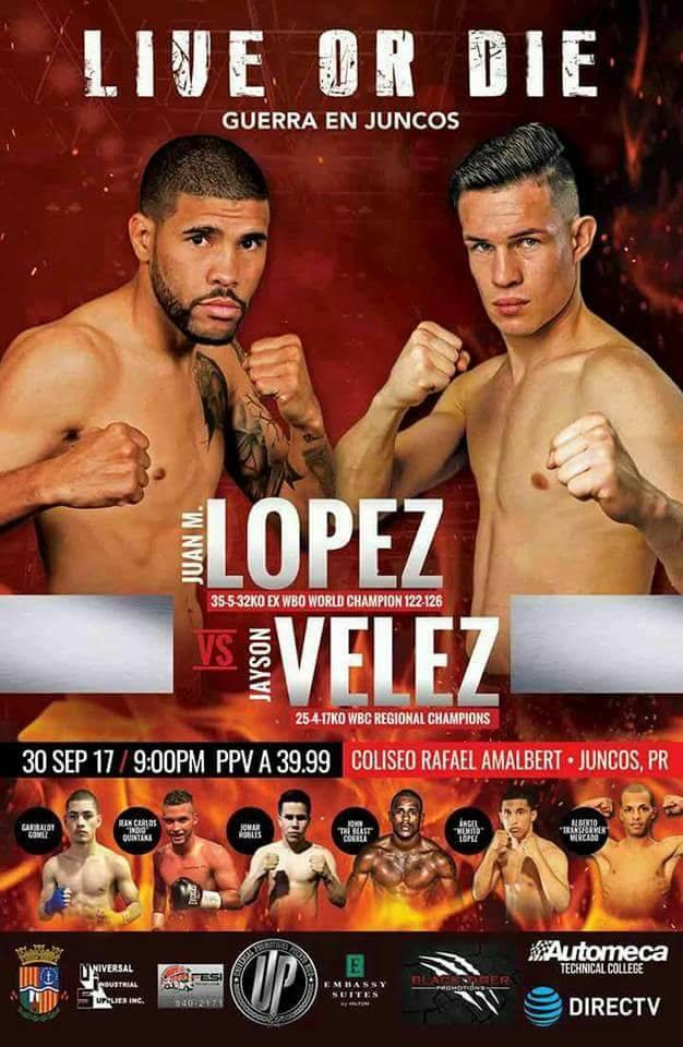 """""""Live or Die"""" Juanma Lopez vs Jayson Velez"""