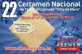 """22 Certamen Nacional de Teatro Aficionado """"Villa de Mora"""""""