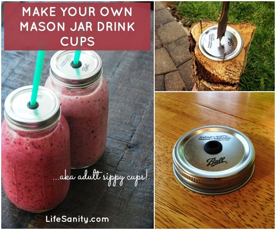 Make Your Own Mason Jar Drink Cups