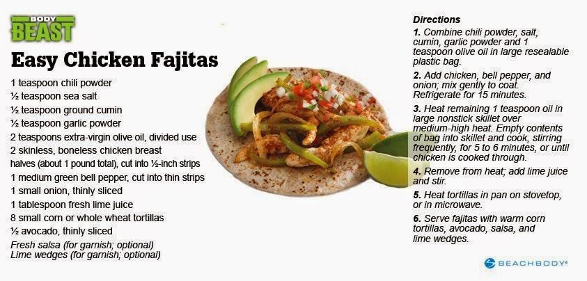 chicken fajitas, dream team, easy recipes, lean protein, coach, paula chavez beachbody body beast, lean eating