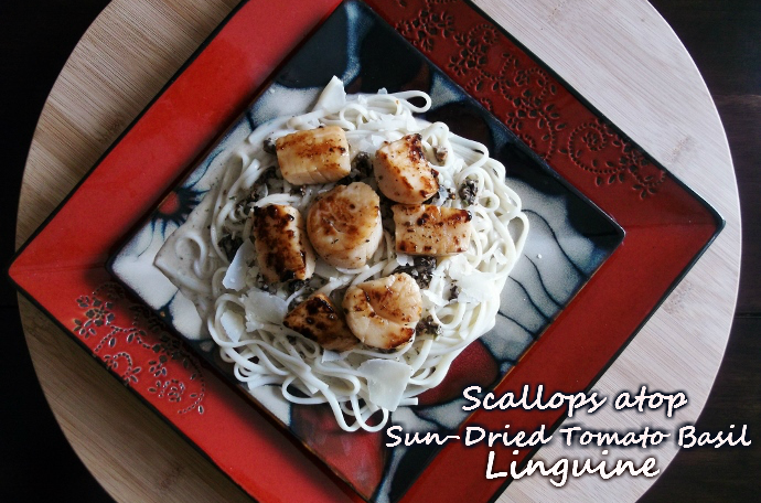 scallop pasta