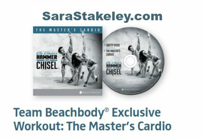 Hammer & Chisel, Support, NEW for Team Beachbody, The Master's Cardio