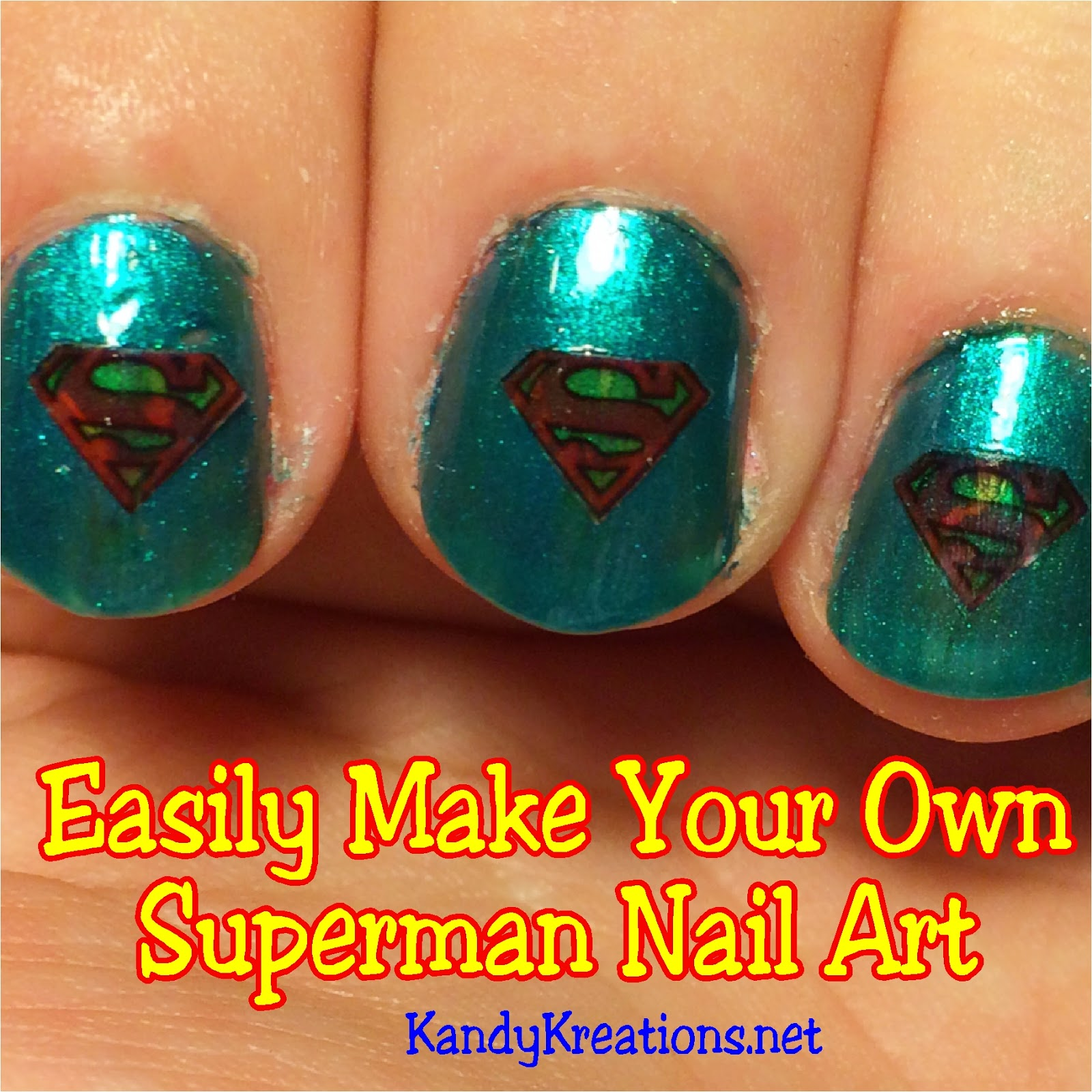 Easily Make your Own Superman Nail Art | Everyday Parties