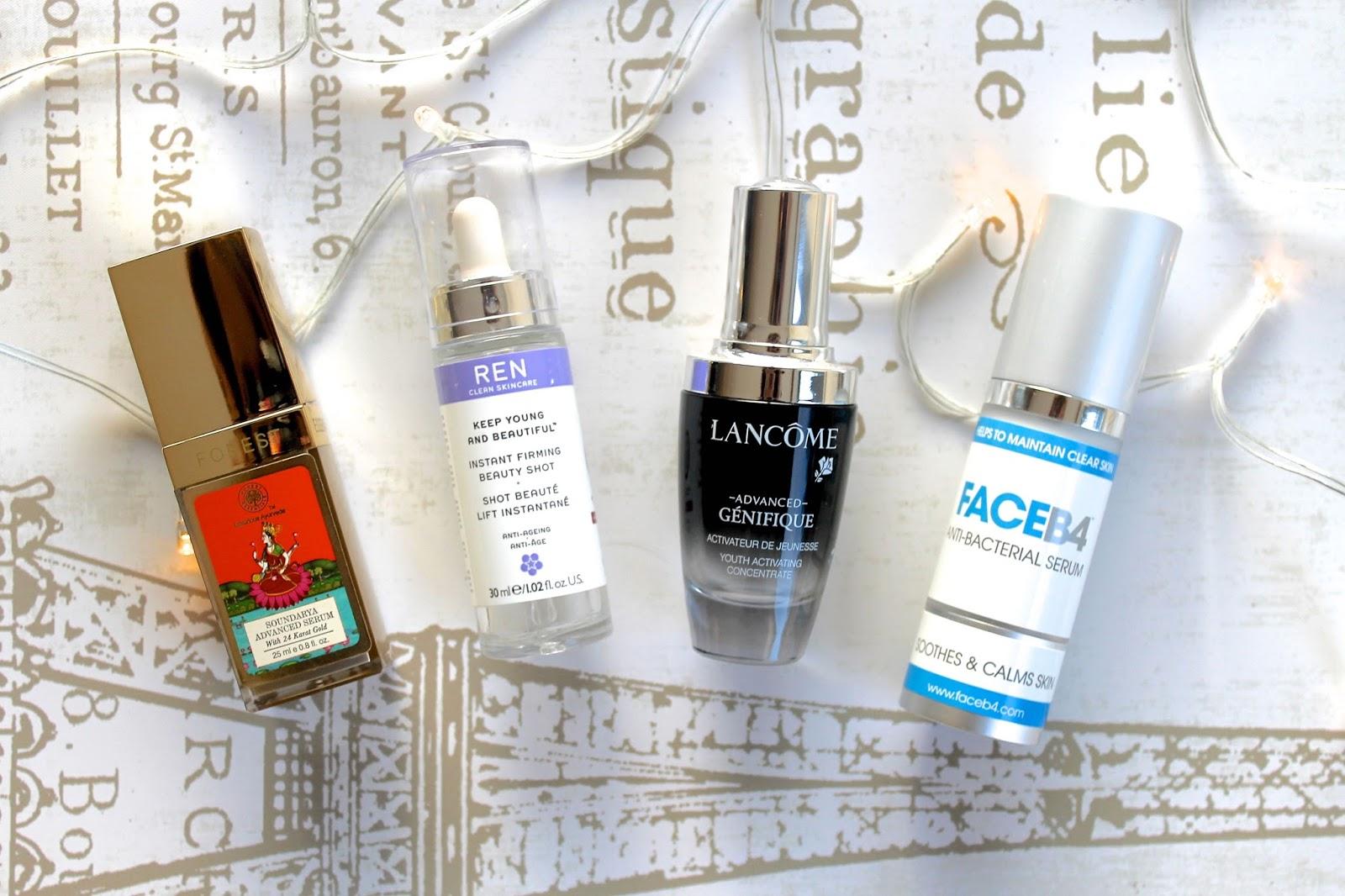 face serum skincare favourites blog