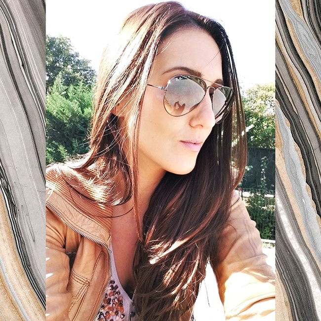 Jelena Zivanovic Instagram @lelazivanovic.Glam fab week.Rayban light brown Aviators.