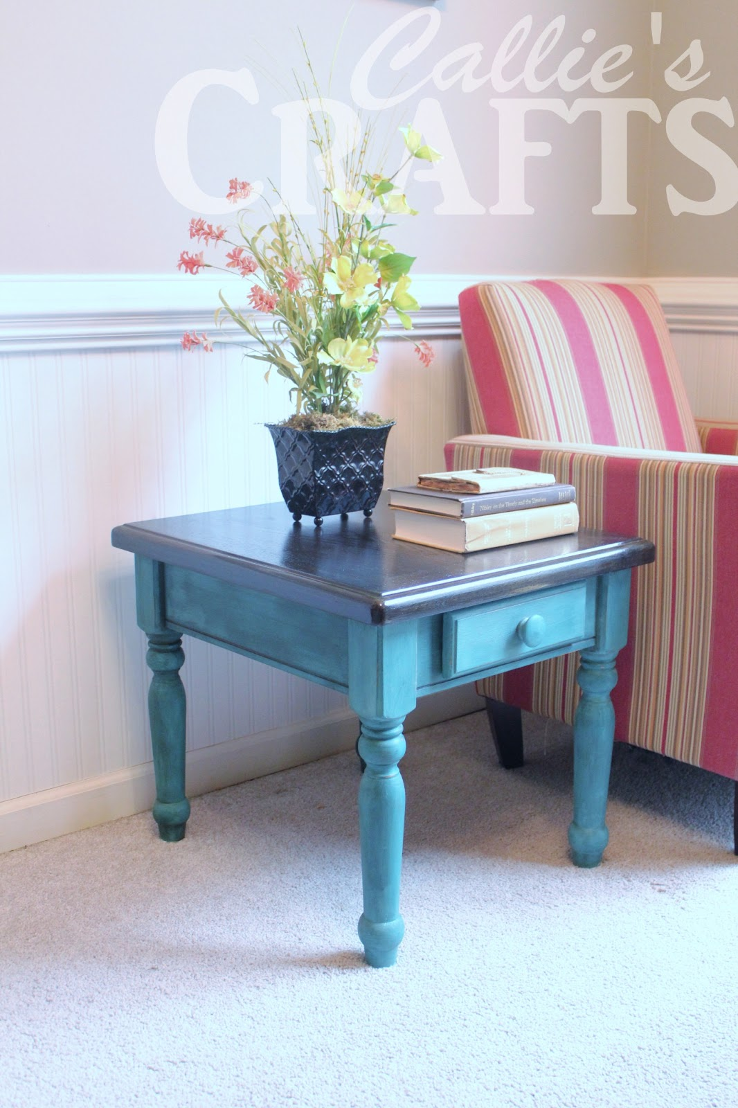 End Table Paint Ideas Callies Crafts Chalk Paint End Table Update