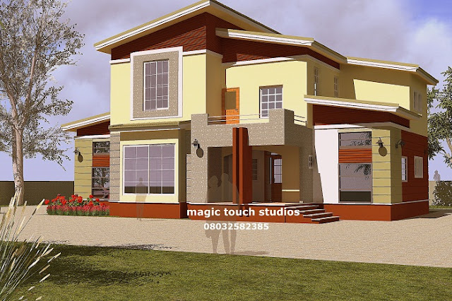 Five Bedroom Duplex Residential Homes And Public Designs