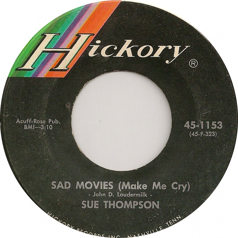 From the vaults sue thompson born 19 july 1925 for Sad country music videos that make you cry