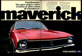 propaganda Ford Maverick - 1973.  brazilian advertising cars in the 70. os anos 70. história da década de 70; Brazil in the 70s. propaganda carros anos 70. Oswaldo Hernandez.