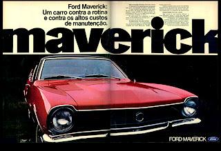 propaganda Ford Maverick - 1973.  brazilian advertising cars in the 70. os anos 70. história da década de 70; Brazil in the 70s. propaganda carros anos 70. Oswaldo Hernandez.
