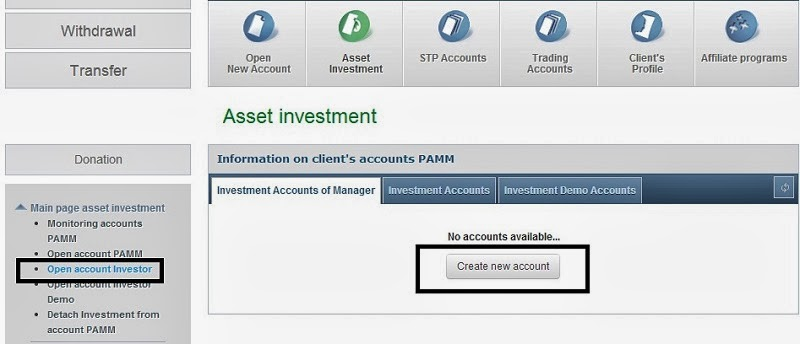 Investment monitoring login