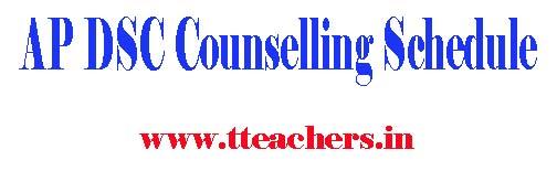 AP DSC 2015 Web Counselling Schedule Merit List Selection List