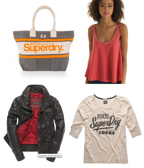 Superdry Brighton Tote Bag, Superdry Luxe Sorority Top, Superdry Tarpit Jacket, Superdry Slouce Sleeve Top