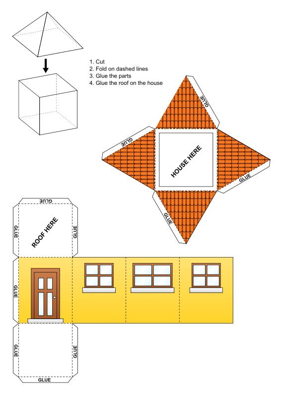 Инструкция как сделать домик из бумаги