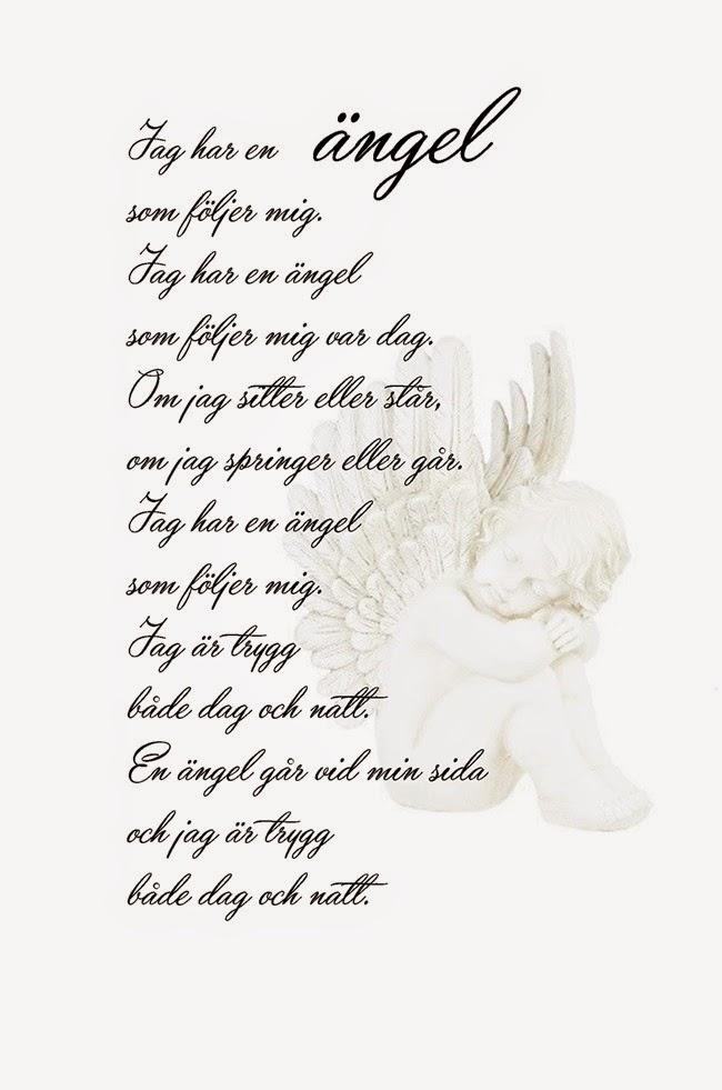 himlen har fått en ny ängel dikt