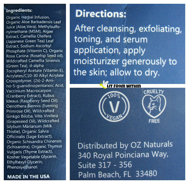 OZ Naturals Sea-Infused Herbal Moisturizer