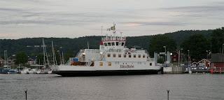 Ferry to Visingsö, an Island near the town Gränna