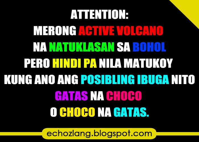 Attention: Merong active volcano na natagpuan sa Bohol.