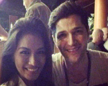 "Janine Tugonon with ""The Script"" singer Danny O'Donoghue"