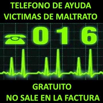 016 TELEFONO AYUDA VICTIMAS DE MALTRATO