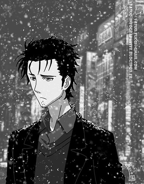 My fan art for Steins;Gate 0 - It's snowing on Akiba : steinsgate