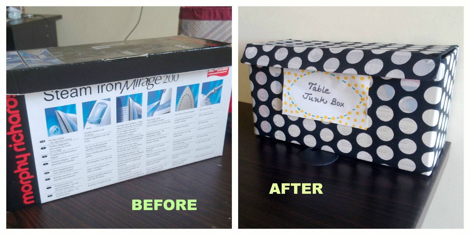 DIY Fabric covered boxes