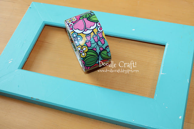 Doodlecraft duct tape picture frame for Duck tape craft ideas