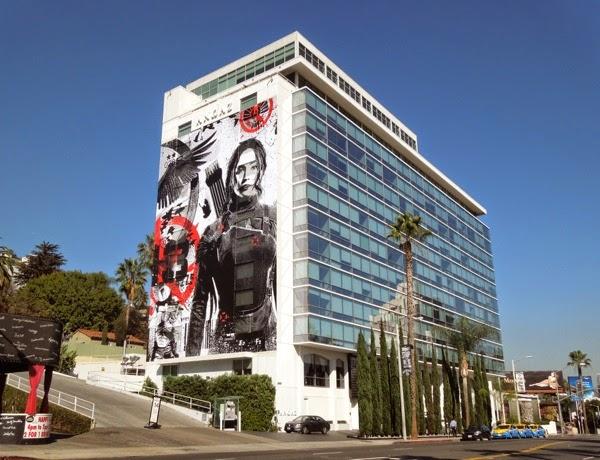 Hunger Games Mockingjay Part 1 giant billboard