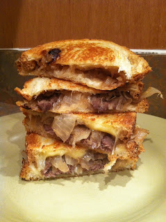 French Onion and Steak Grilled Cheese