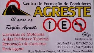 Centro de Formação de Condutores AGRESTE (84) 3281 2175/9471 2153-Geilza e 9195 6420-Jailton