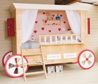 Ni o en casa las modernas y lindas camas infantiles de - Camas con tobogan para ninos ...