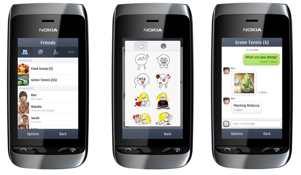 Layanan LINE Messenger hadir di Nokia Asha