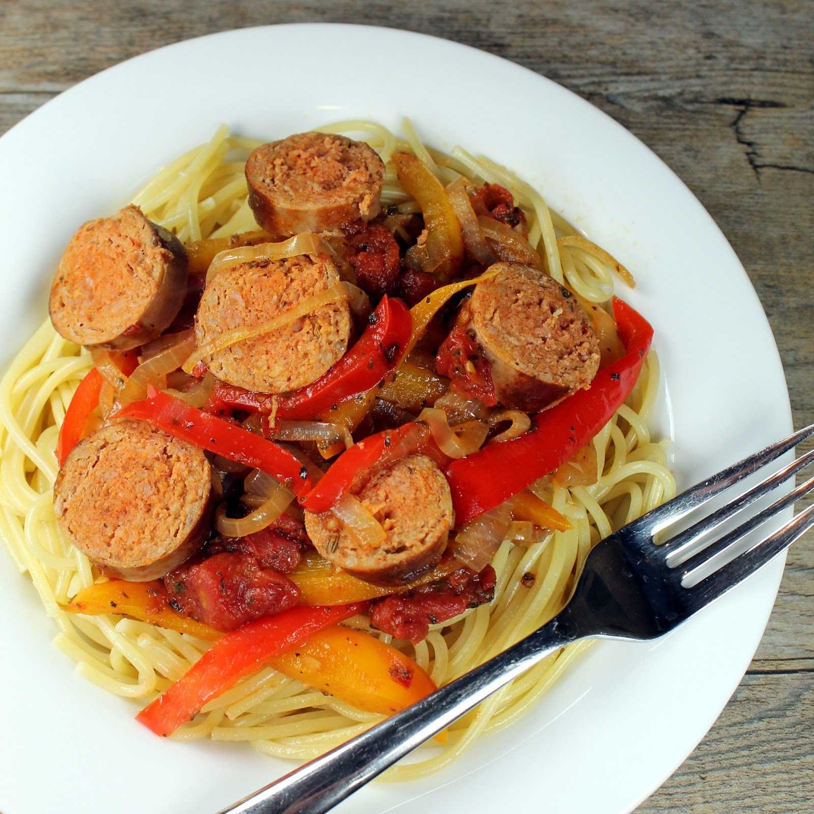 The Stay At Home Chef: Italian Sausage and Pepper Pasta