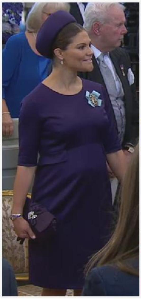 Crown Princess Victoria of Sweden In Seraphine And Princess Estelle In Marie Chantal At Prince Nicolas' Christening