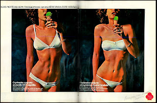 anúncio lingerie valisere de 1979;  moda anos 70; propaganda anos 70; história da década de 70; reclames anos 70; brazil in the 70s; Oswaldo Hernandez